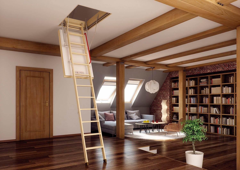 Мансардные лестницы фото
